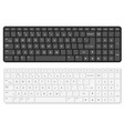 cartoon black and white computer keyboard template vector image