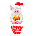 cartoon piggy vector image vector image