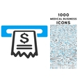Cashier Receipt Icon with 1000 Medical Business vector image