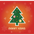 Christmas greeting card8 vector image vector image