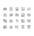 coding line icons signs set outline vector image vector image