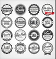 collection of vintage retro premium quality vector image vector image