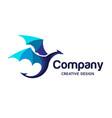 colorful dragon logo vector image vector image