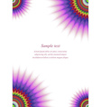 Colorful page corner design template vector image vector image