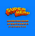 comic game font for posters pop art retro vector image