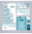 Corporate identity design Ocean summer decorative vector image