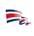 costa rica flag on a white vector image