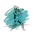 cricket player cartoon vector image vector image