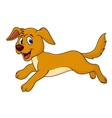 Cute dog running vector image vector image