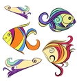 Decorative fishes vector image vector image