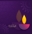 diwali greeting card design with creative diya vector image vector image