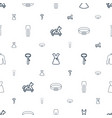 dress icons pattern seamless white background vector image vector image