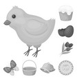 easter is a christian holiday monochrome icons in vector image vector image