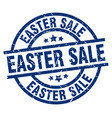 easter sale blue round grunge stamp vector image vector image