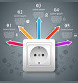 electric outlet icon abstract business vector image vector image