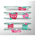 empty supermarket shelves valentine s day sale vector image