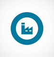 factory bold blue border circle icon vector image vector image
