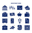 finance and money silhouette icon set in flat vector image vector image