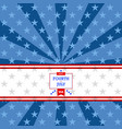 fourth july background vector image vector image