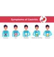gastritis symptoms infographic banner vector image vector image