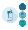 Gift in a Shopping Bag vector image vector image
