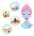 Girl at spa treatment vector image vector image