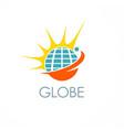 globe shine solar logo vector image vector image