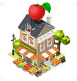 Greengrocer Shop City Building 3D Isometric vector image