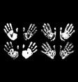 hand print set print of human palm imprint vector image