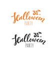Happy halloween banneremblem logo hand