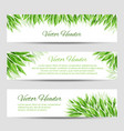 headers with green leaves vector image vector image