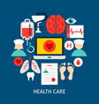 health care flat concept vector image vector image