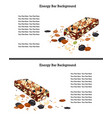 healthy crunchy granola and nuts bar over white vector image vector image