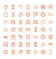 hour icons vector image vector image