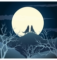 Howling wolves vector image