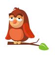 icon owl vector image vector image