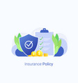 insurance policy concept vector image