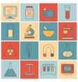 Laboratory equipment icons flat line vector image vector image