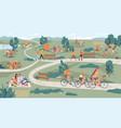 leisure outdoor activities in park summer rest vector image