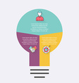 light bulb infographic Infographic for vector image vector image