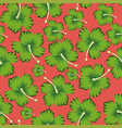 lime flowers hibiscus seamless living coral vector image vector image