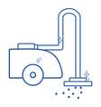 line vacuum cleanner machine electric equipment vector image vector image