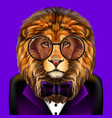 lion creative colorful hand-drawn portrait lion vector image