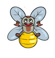 lustration a friendly cute bee vector image vector image