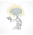 man brain icon vector image