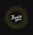 modern hipster thank you vector image vector image