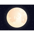 Moon on starry sky background for your design vector image