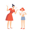 mother scolding her teenager daughter conflict vector image vector image