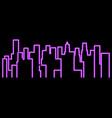 neon city outline landscape megapolis vector image vector image