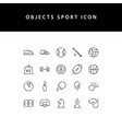 object sport line style icon set vector image vector image